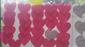 Why - a great time to use heart shaped post-its too!